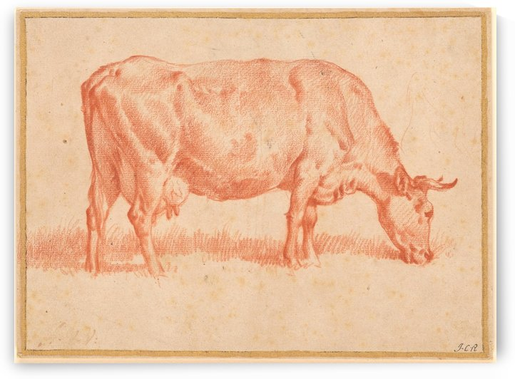 Side view of a cow by Adriaen van de Velde
