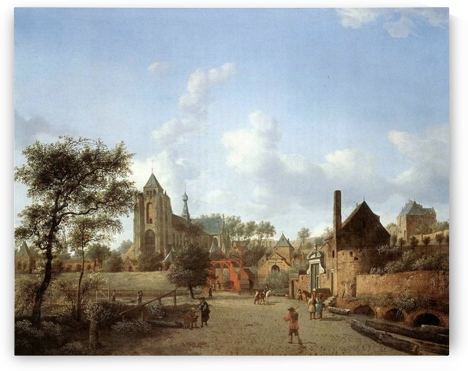 Life in a small city by Adriaen van de Velde