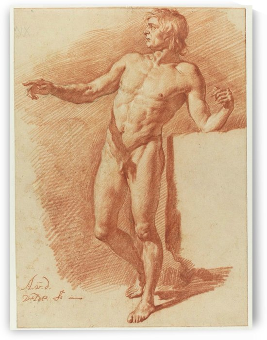Nude figure of a man by Adriaen van de Velde