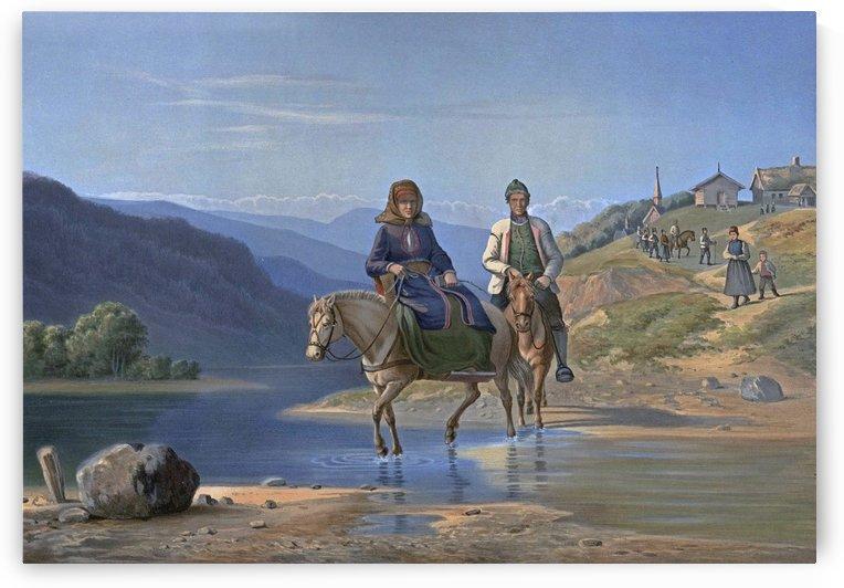 Hjemreisen fra Kirken by Adolph Tidemand