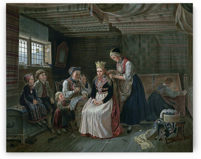 Crowning Scene by Adolph Tidemand