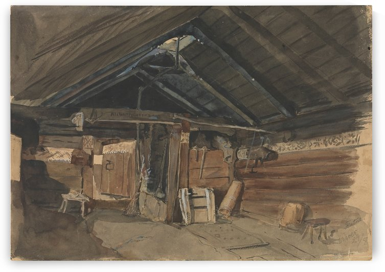 Up in the attic by Adolph Tidemand