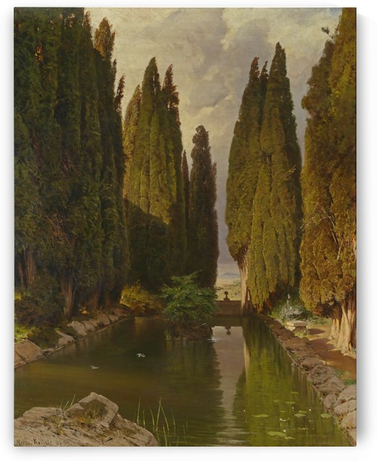 Park bei Rom 1899 by August Hermann Kruger