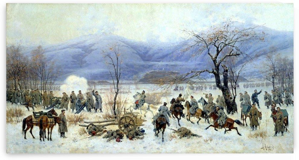 Battle of Shipka Sheinovo, December 28, 1877 by Alexei Danilovich Kivshenko