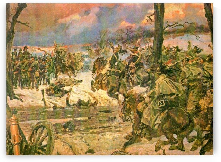 A battle scene by Alexei Danilovich Kivshenko