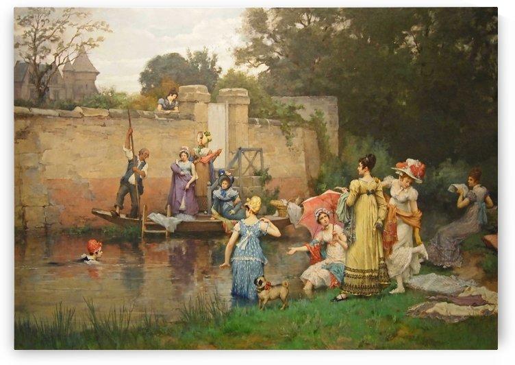Le bain des dames by Pierre Outin
