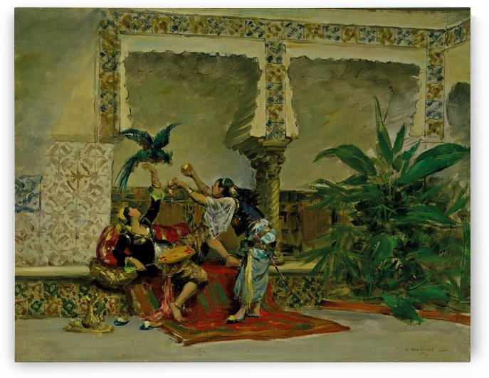 An Oriental scene by Pierre Outin