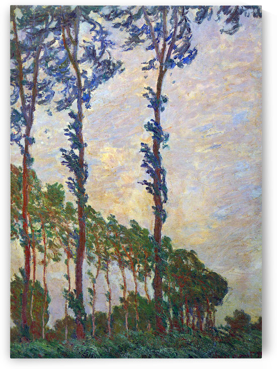 Poplar series, wind by Monet by Monet