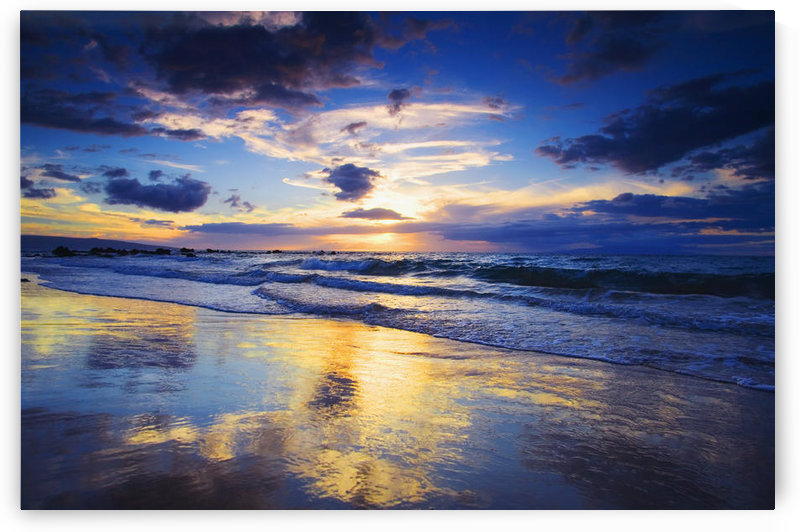 USA, Hawaii, Maui, Sunset At Mokapu Beach; Wailea by PacificStock
