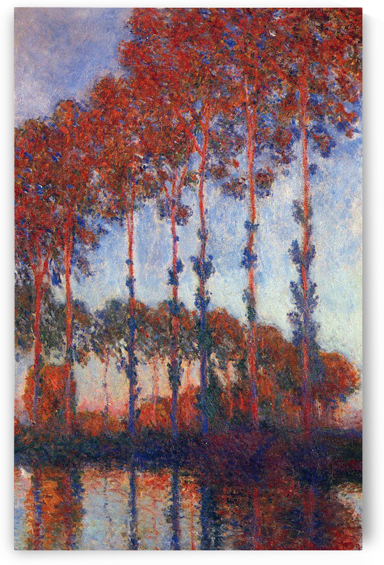 Poplars by Monet by Monet