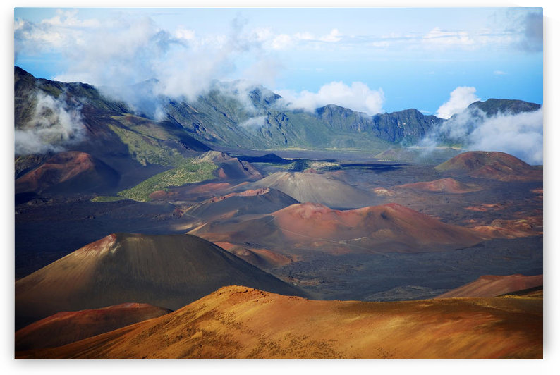 Hawaii, Maui, Haleakala National Park, Haleakala Crater. by PacificStock
