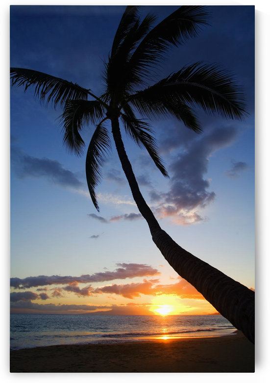 Hawaii, Maui, Kihei, Sunset At Kamaole Beach One. by PacificStock