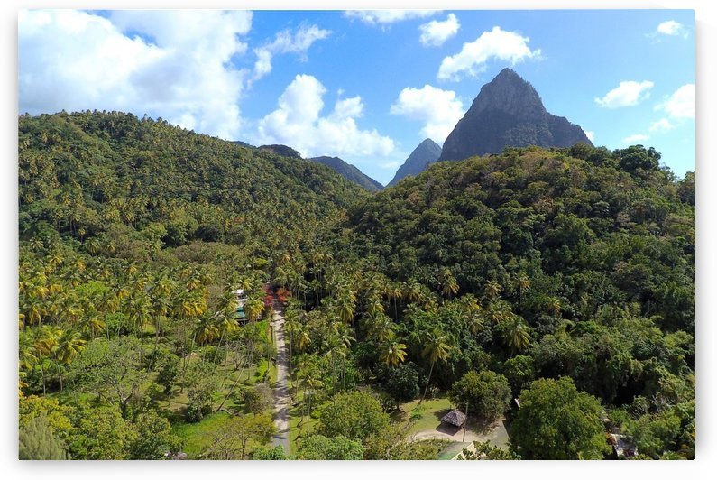 Morne Coubaril piton vista by Joanna Devaux Guillaume