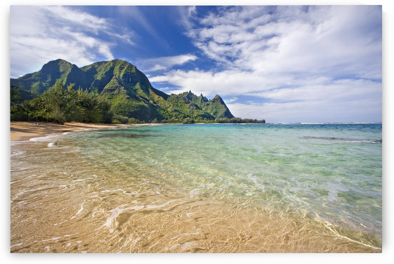 Hawaii, Kauai, North Shore, Tunnels Beach, Bali Hai Point. by PacificStock
