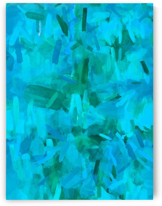 splash painting abstract texture in blue and green by TimmyLA