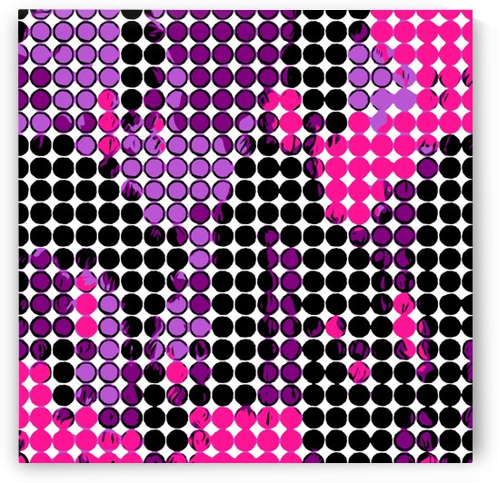 circle pattern graffiti drawing abstract in purple pink black by TimmyLA