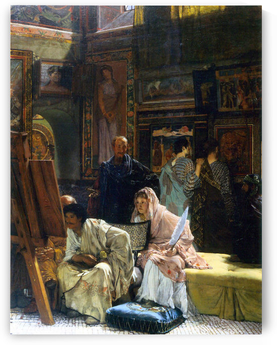 The Gallery by Alma-Tadema by Alma-Tadema