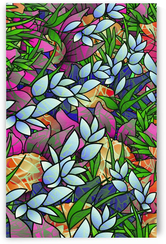 Floral Abstract Artwork G464 by Medusa GraphicArt