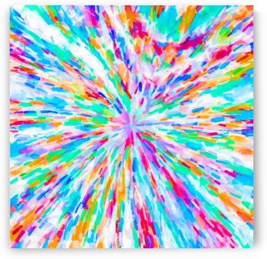 colorful splash painting abstract in pink blue green orange purple by TimmyLA