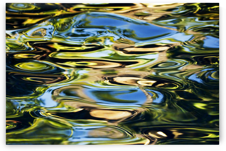 Hawaii, Maui, Abstract View Of Colorful Reflections On Calm Water. by PacificStock