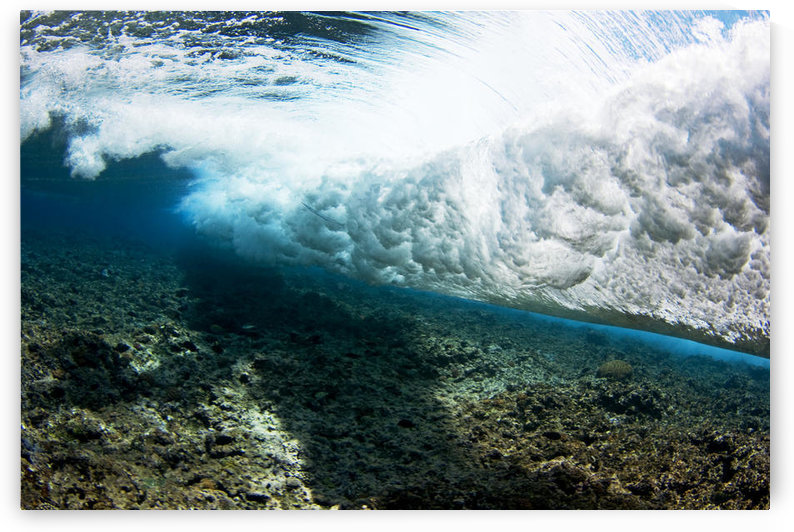 Micronesia, Yap, Underwater View Of Surf Crashing On The Reef. by PacificStock