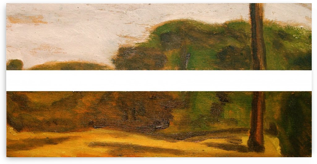 ITALIAN COUNTRYSIDE LANDSCAPE: ANTEMNAE IN THE ROMAN CAMPAGNA  - Italian and roman countryside landscapes, oil on wood series Painting by Alessandro Nesci