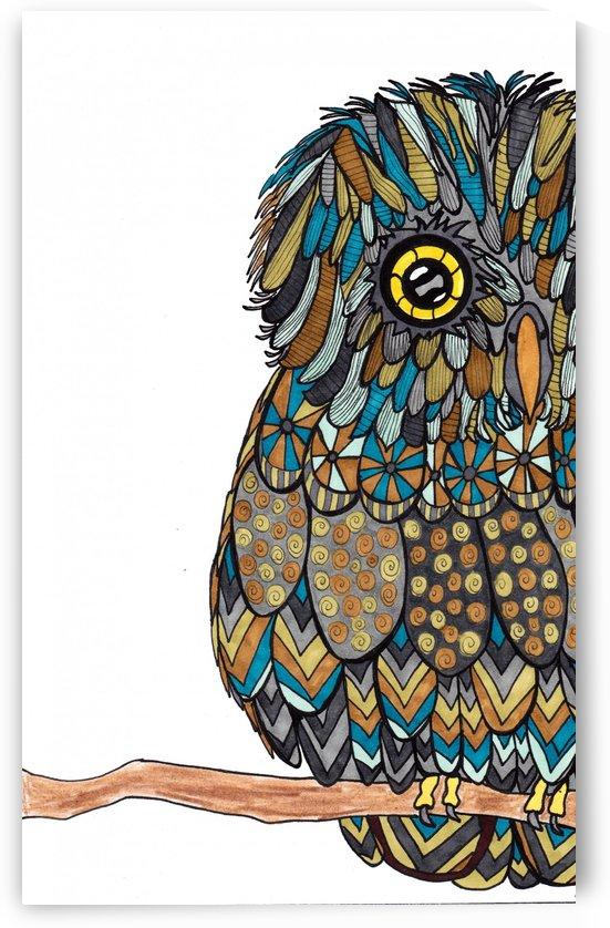 Teal Owl by Susan Watson