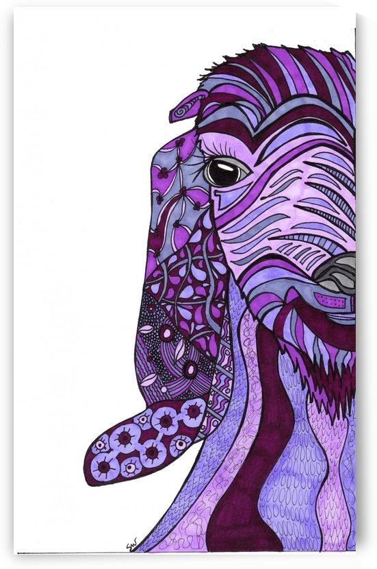 Purple Goat by Susan Watson