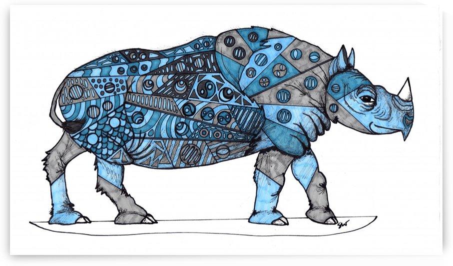 Blue Rhino by Susan Watson