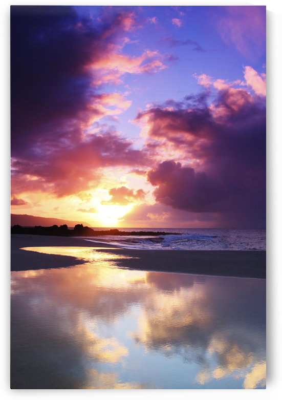 USA, Hawaii, Beautiful Sunset; Oahu by PacificStock