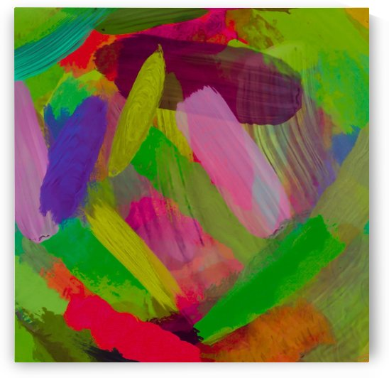 splash painting abstract texture in green pink red purple by TimmyLA