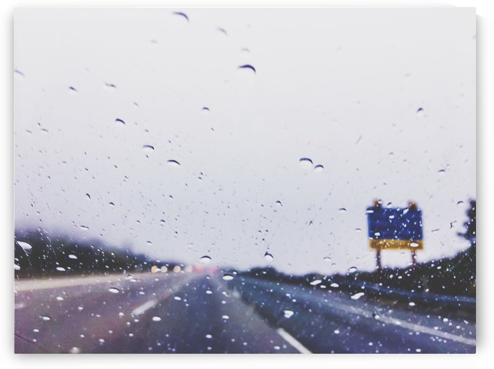 on the road with the rain storm by TimmyLA