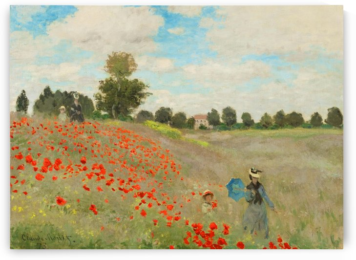 Poppies by Monet by Monet