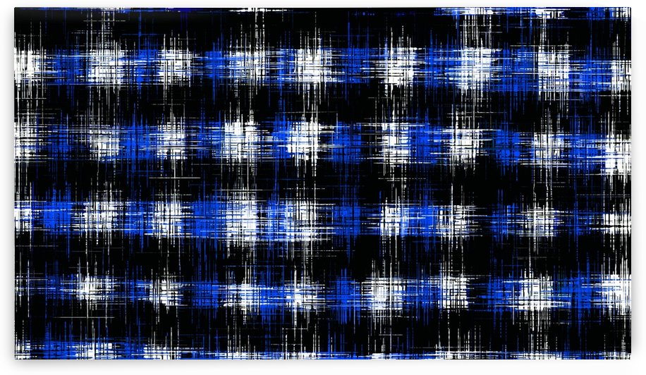 plaid pattern painting texture abstract in blue and black by TimmyLA