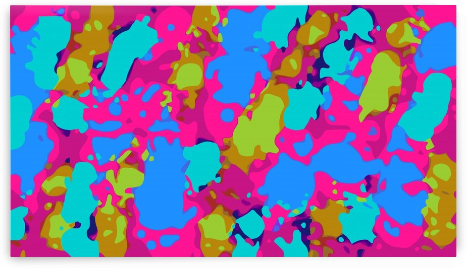 splash graffiti painting abstract in pink blue green by TimmyLA