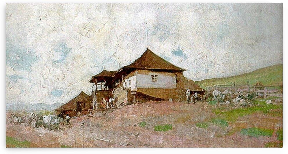 Tavern in Oratii by Nicolae Grigorescu
