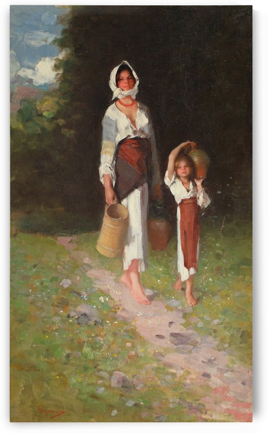 Girls returning from river by Nicolae Grigorescu