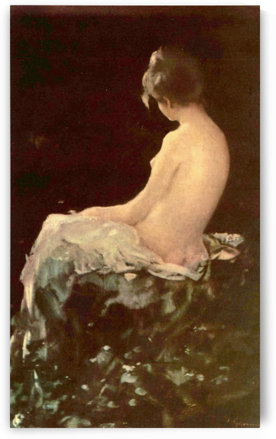 Nude woman before bathing by Nicolae Grigorescu