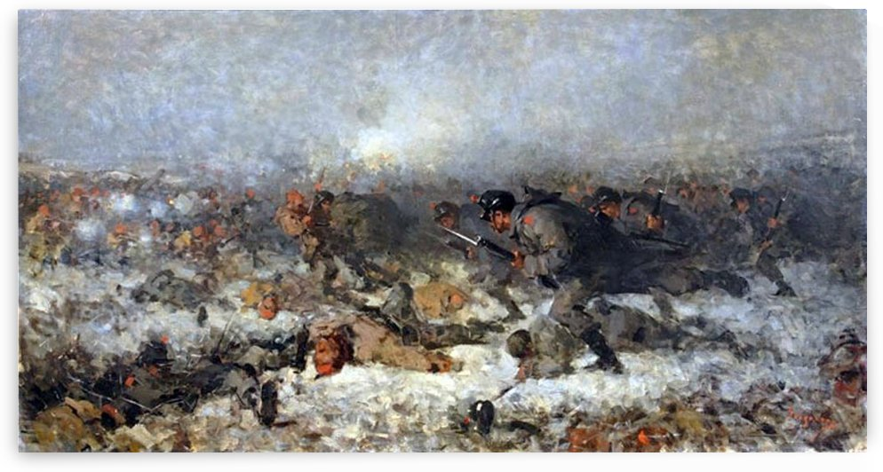 The attack from Smardan by Nicolae Grigorescu