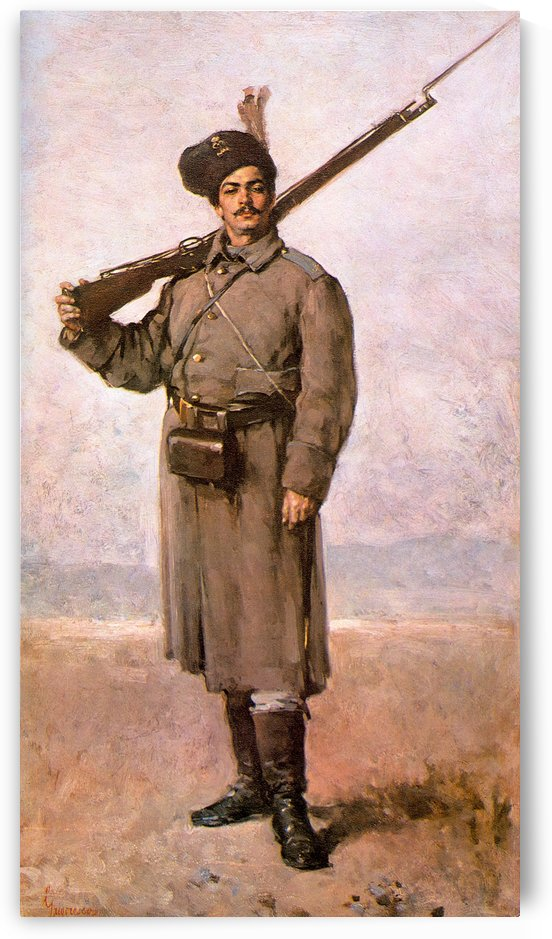 The soldier for freedom by Nicolae Grigorescu