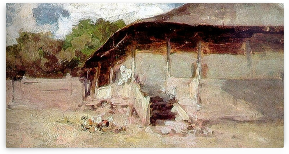House in rural area by Nicolae Grigorescu