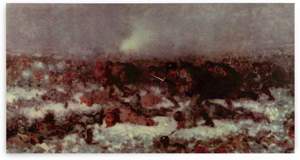 The attack in Smardan by Nicolae Grigorescu