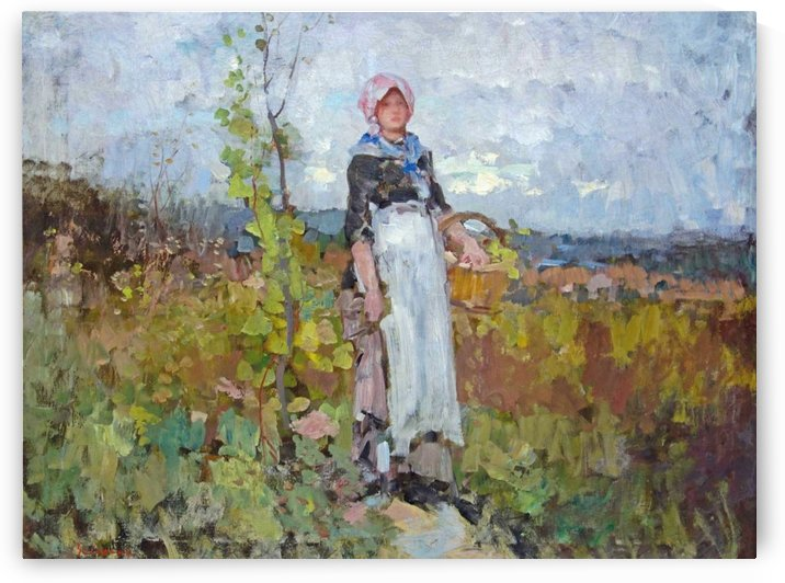 Young peasant girl in the vineyard by Nicolae Grigorescu