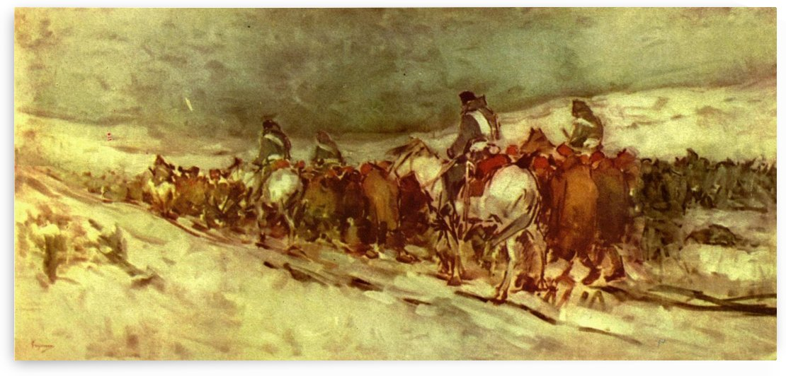 Moving troops by Nicolae Grigorescu
