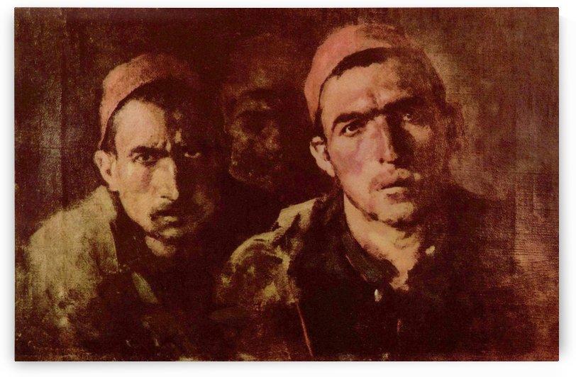 Turkish prisoners by Nicolae Grigorescu