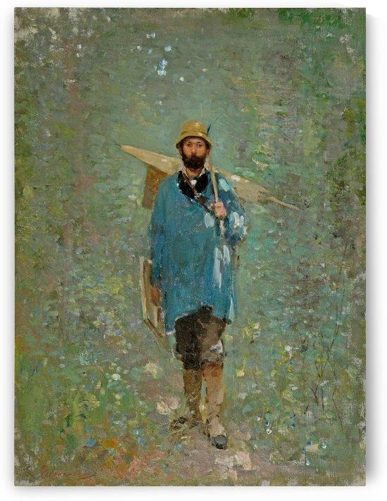 Andreescu at Barbizon, 1880 by Nicolae Grigorescu