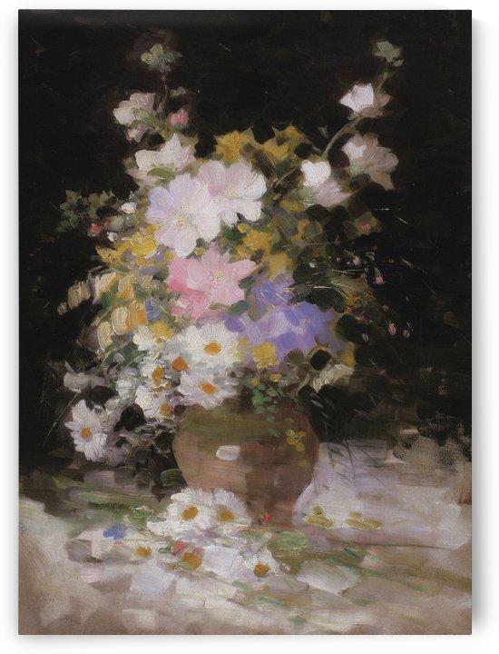 Vase full of flowers by Nicolae Grigorescu