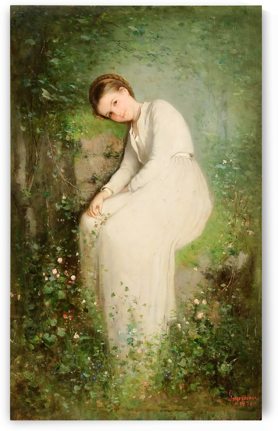 A flower among flowers, Miss Millet by Nicolae Grigorescu