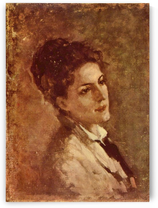 Portrat der Alexandrina Filionescu by Nicolae Grigorescu