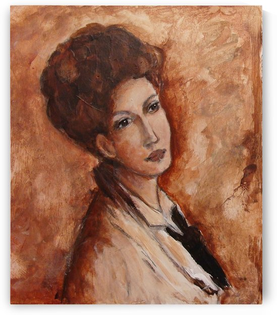 Portrait of Alexandrina Filonescu by Nicolae Grigorescu